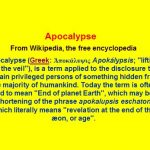 Apocalypse Truth Unveils Shift In Consciousness