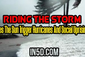 Riding The Storm: Does The Sun Trigger Hurricanes And Social Uprising?