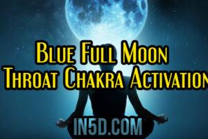Blue Full Moon Throat Chakra Activation