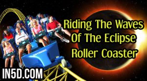 Riding The Waves Of The Eclipse Roller Coaster