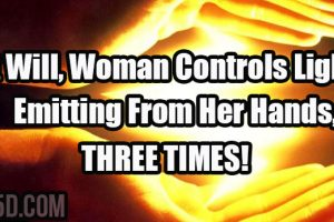 At Will, Woman Controls Light Emitting From Her Hands, THREE TIMES!