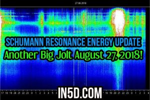 Schumann Resonance Energy Update – Another Big Jolt August 27, 2018!