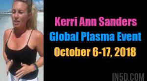 Kerri Ann Sanders - Global Plasma Event October 6-17, 2018
