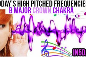 JUNE 8, 2019 HIGH PITCHED FREQUENCY KEY B MAJOR CROWN CHAKRA