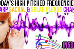July 17, 2019 HIGH PITCHED FREQUENCY KEY D SHARP SACRAL & SOLAR PLEXUS CHAKRAS