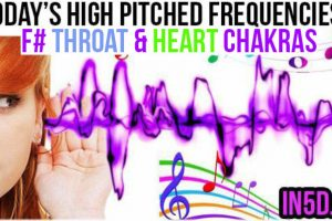 APR 6, 2019 HIGH PITCHED FREQUENCY KEY F# – HEART & THROAT CHAKRAS