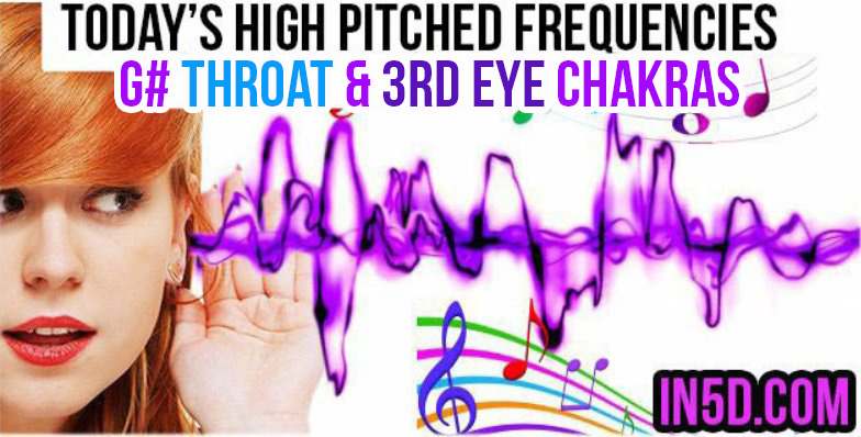 APR 9, 2019 HIGH PITCHED FREQUENCY KEYS G# THROAT & 3RD EYE CHAKRAS