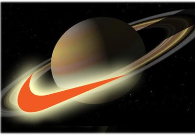 """""""Just Do It"""" is a Nike slogan. Like many other advertisers, the Nike """"swoosh"""" represents the rings of Saturn. In astrotheology, Saturn is Satan."""