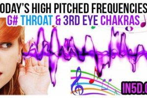 FEB 14, 2019 HIGH PITCHED FREQUENCY KEYS G# THROAT & 3RD EYE CHAKRAS