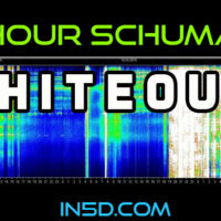 24 Hour Schumann Resonance WHITEOUT!