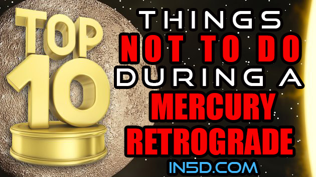 TOP 10 Things NOT To Do During Mercury Retrograde!