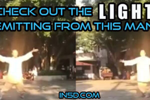 Check Out The Light Emitting From This Man!