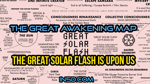 The Great Awakening Map - The Great Solar Flash Is Upon Us