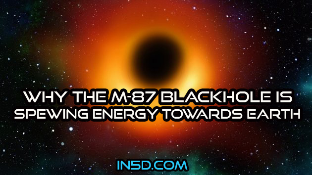 Why The M-87 Blackhole Is Spewing Energy Towards Earth