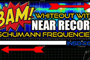 BAM! WHITEOUT With Near RECORD Schumann Frequencies!