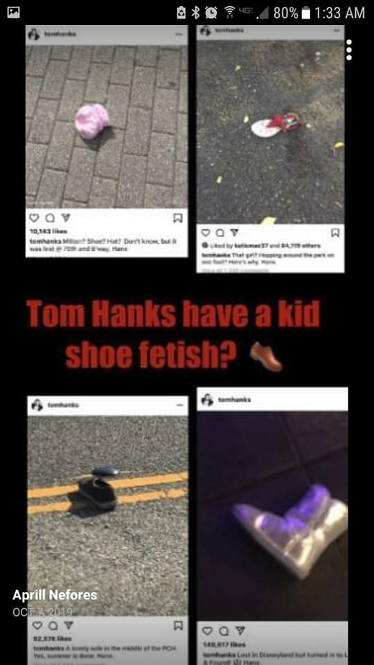 Tom Hanks bragged about his desires.