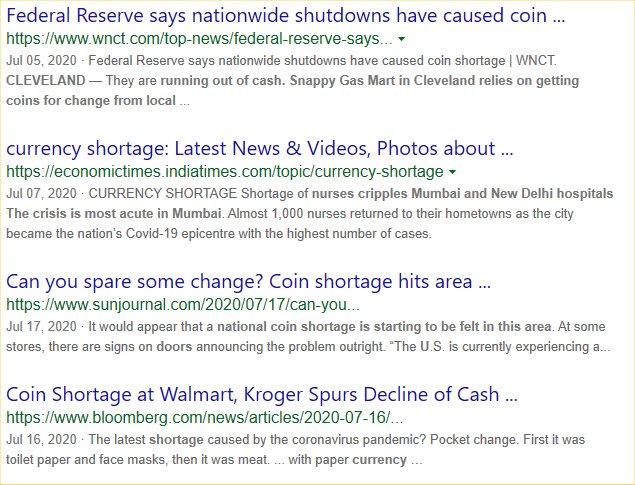 CURRENCY SHORTAGE