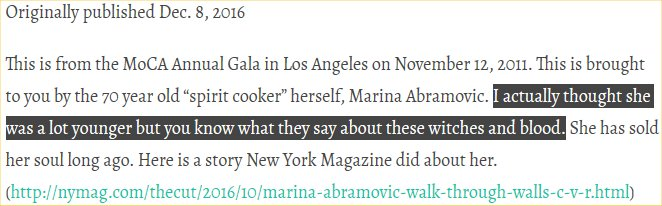 """The following is an excerpt from an article called, """"Marina, Vivienne and Pamela"""":"""
