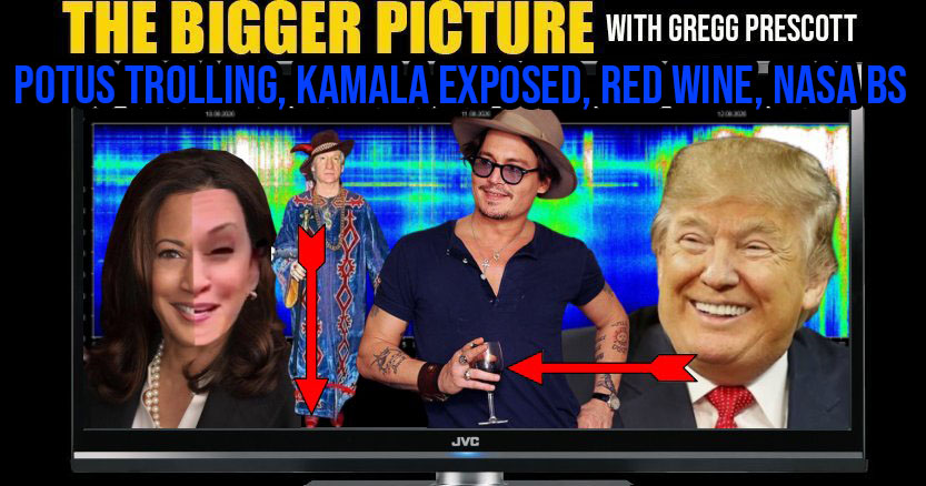 POTUS Trolling, Kamala Exposed, Red Wine, & NASA BS - The BIGGER Picture with Gregg Prescott