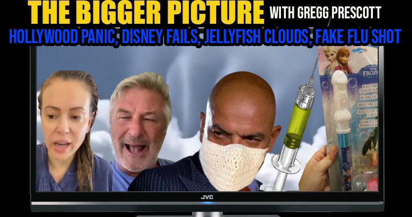 Hollywood PANIC, Disney FAIL, Jellyfish Clouds, FAKE Flu Shot The BIGGER Picture with Gregg Prescott