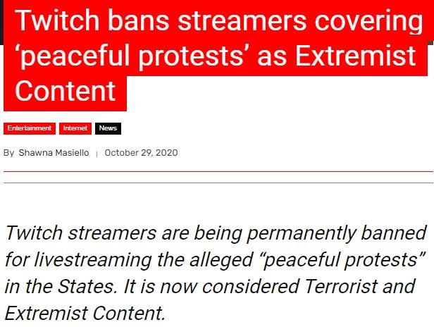 Twitch bans