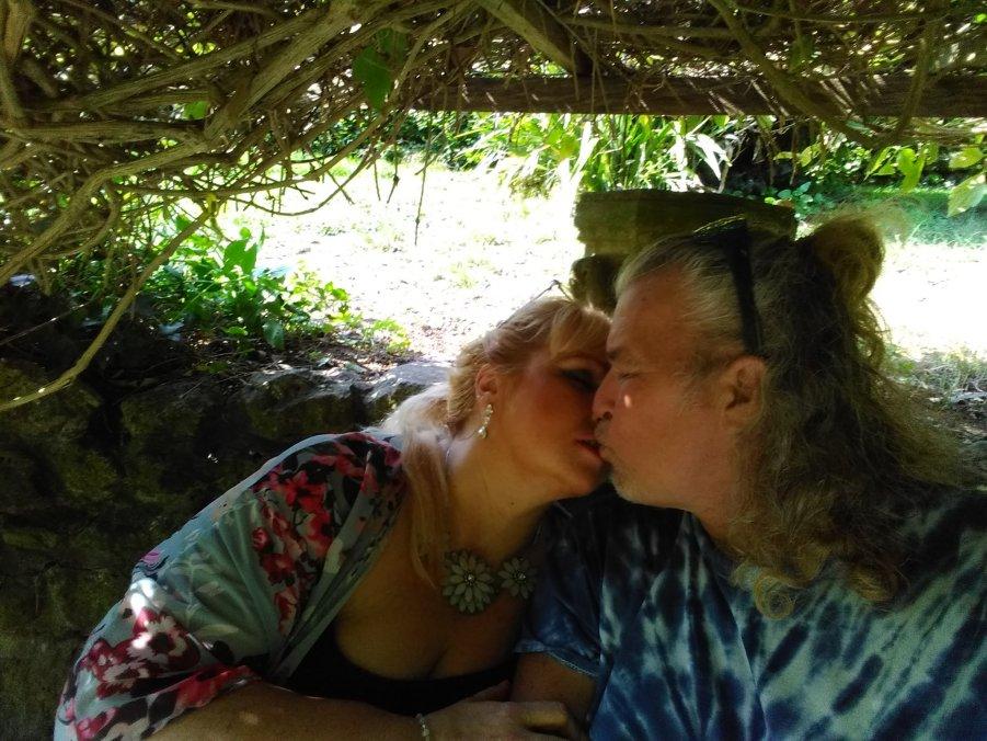 Alison and me in Glastonbury