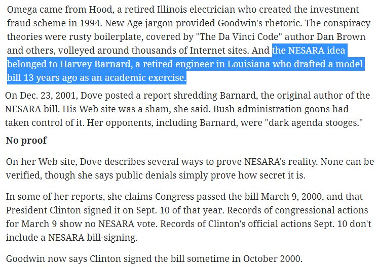"""Here are some notes from the article, """"Up against 'the dark agenda"""" which openly talks about the NESAR origins:"""